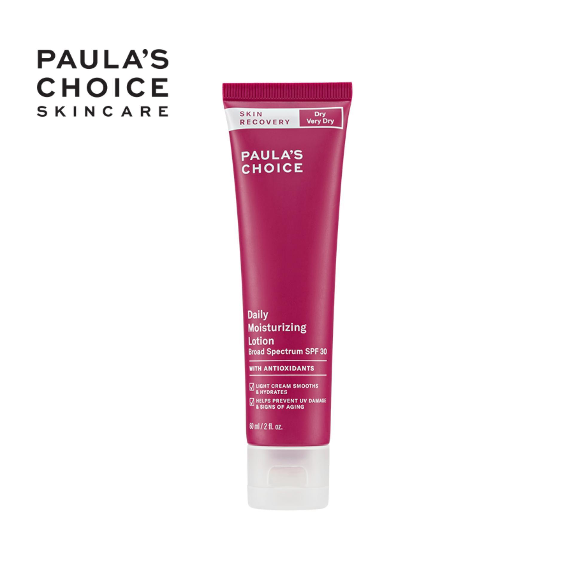 Kem chống nắng dưỡng ẩm phục hồi tổn thương cho da khô Paula's Choice Skin Recovery Daily Moisturizing Lotion SPF 30- 60ml