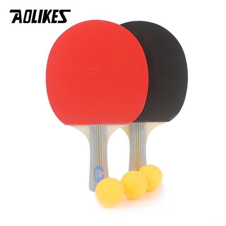 Bảng giá Bộ 2 vợt bóng bàn cao cấp tặng kèm 3 bóng AOLIKES A-9841
