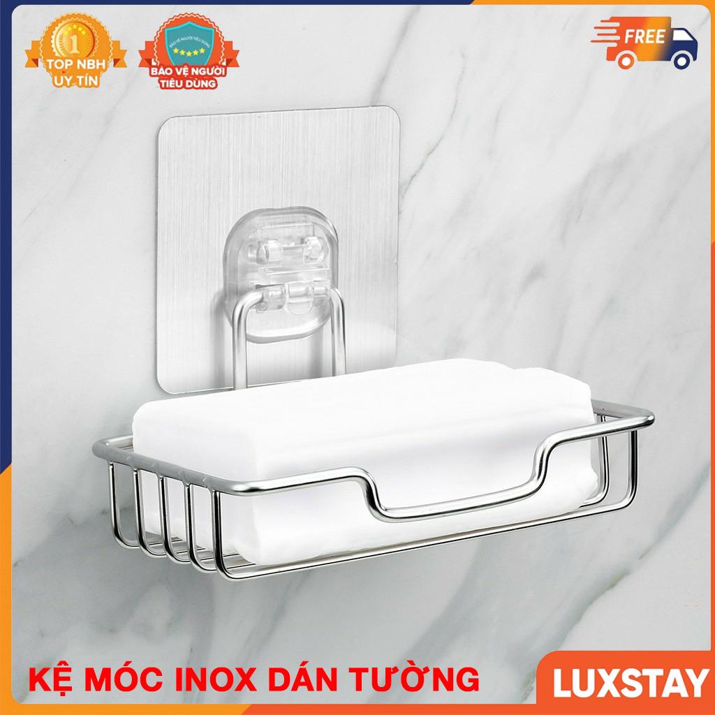 Giá Inox 304 Đựng Xà Bông Tắm, Khay Dán Tường Nhà Tắm, Kệ Để Đồ Phòng Tắm Tiện Lợi Lắp Đặt Dính Tường Không Cần Khoan - BH 1 Đổi 1