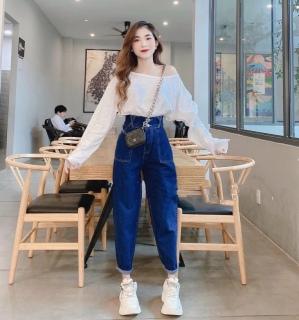 [HCM]Quần baggy jean quần bò chất vải cao cấp chất lượng thời trang trẻ trung lưng cao 1990STORE MS823 thumbnail