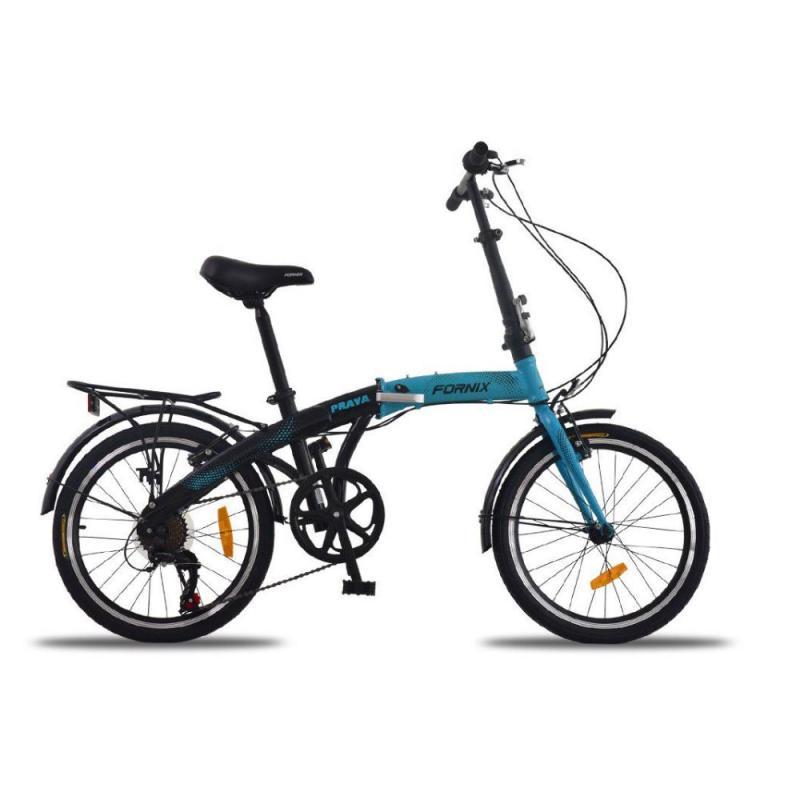 Phân phối Xe đạp gấp Prava màu xanh dương đen năng động
