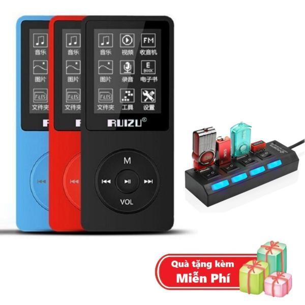 ( Quà tặng Hub chia 4 cổng Usb ) Máy nghe nhạc mp3 Ruizu X02 bộ nhớ trong 8G hỗ trợ thẻ nhớ lên đến 64G cao cấp