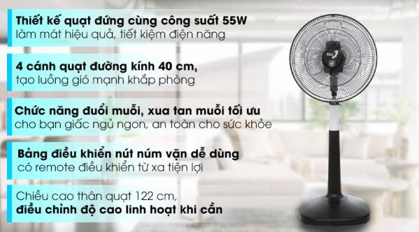 Quạt đứng Asia D16026-DV0( HÀNG TRƯNG BÀY)