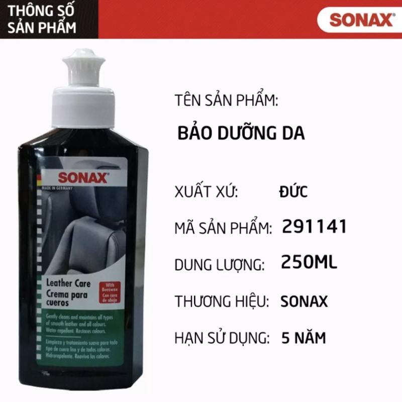 Kem Làm Sạch, Dưỡng Da Sonax Leather Care 291141 - 250ml - Nhập Đức