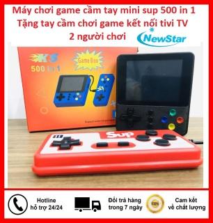 Máy chơi game cầm tay 2 người chơi sup 500 in 1 -Tặng tay cầm chơi game kết nối tivi TV- Máy chơi game 4 nút bản nâng cấp sup 400 trò chơi,ps2,ps3,ps4,psp,nintendo switch,minecraft,free fire, pubg, liên quân giá rẻ cổ điển thumbnail