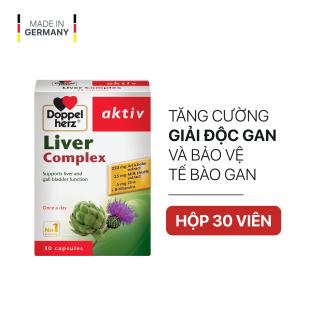 Viên uống hỗ trợ điều trị tổn thương gan, hạ men gan Doppelherz Aktiv Liver Complex (Hộp 30 viên) thumbnail