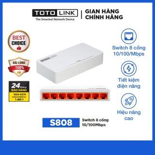 Switch 8 cô ng 10 100Mpbs S808 - TOTOLINK thumbnail