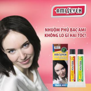 Nhuộm phủ bạc dược thảo Ami Seven Speedy Permanent Hair Color (60g 60g) nhanh 7 phút - Hàn Quốc - loại tiết kiệm màu S3 Nâu sáng thumbnail
