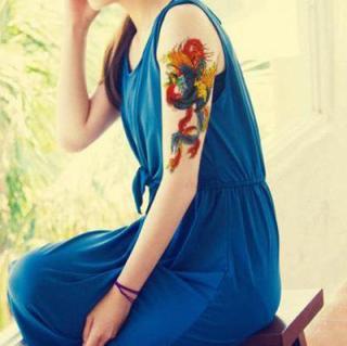 Hình xăm dán tatoo phượng hoàng kích thước 15 x 21 cm thumbnail