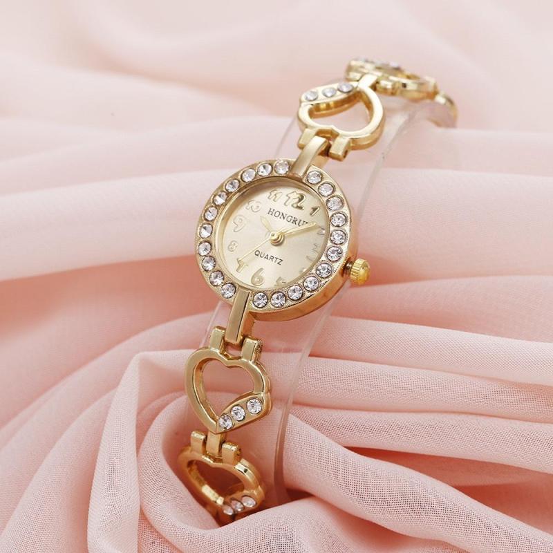 Nơi bán Đồng hồ nữ, Đồng hồ lắc tay, Đồng hồ HONGRUI, Dây kim loại, Sang trọng, Siêu đẹp - TẶNG KÈM HỘP