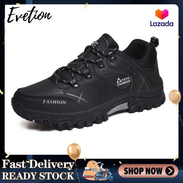 Evetion Giày đi bộ đường dài nam Giày thể thao ngoài trời Giày cao su chống trượt chống thấm nước Giày đi bộ đường dài giá rẻ