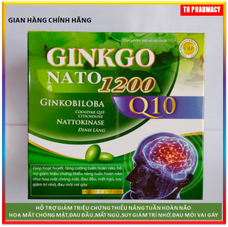 [ Hôp 100 viên] VIên uống bổ não Ginkgo Natto 1200mg - France Group - Giúp tăng cường lưu thông máu não, hỗ trợ giảm di chứng sau tai biến mạch máu não thumbnail