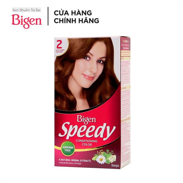 Thuốc nhuộm tóc phủ bạc dạng kem Bigen Speedy Conditioning Color 80ml cao cấp