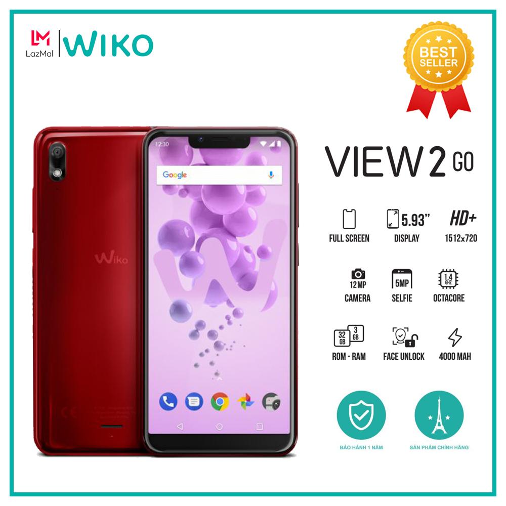 Điện thoại Wiko View 2 Go Ram 2GB Rom 16GB Chipset Snapdragon 430 Màn hình tai thỏ 5.93  HD+ mở khóa bằng khuôn mặt Dung lượng Pin 4000 mAh - Hàng chính hãng