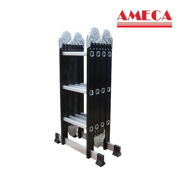 Thang nhôm gấp đa năng Ameca 3 bậc 4 khúcAMC-M203N sử dụng 10 kiểu dáng khác nhau