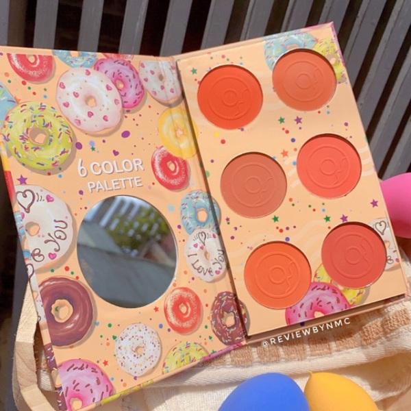 [SALE KHỦNG] Bảng 6 ô má hồng Hasaya Sweet Donut - SENCHARM - Chất phấn mịn, tone màu cam dễ phối, chuẩn tone giá rẻ