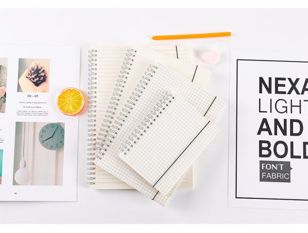 Sổ lò xo kép bìa nhựa trong dẻo, kích thước A5, A6 và B4 có 160 trang