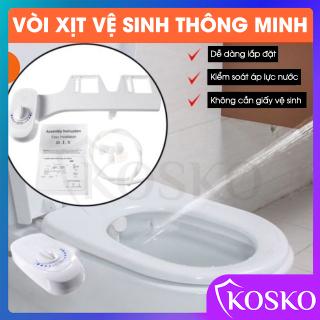 Vòi xịt vệ sinh - nắp bồn cầu thông minh Kosko mã Gangang KG01 phù hợp nhiều loại bồn cầu, vệ sinh nhẹ nhàng (không dùng điện) BH 12 tháng thumbnail