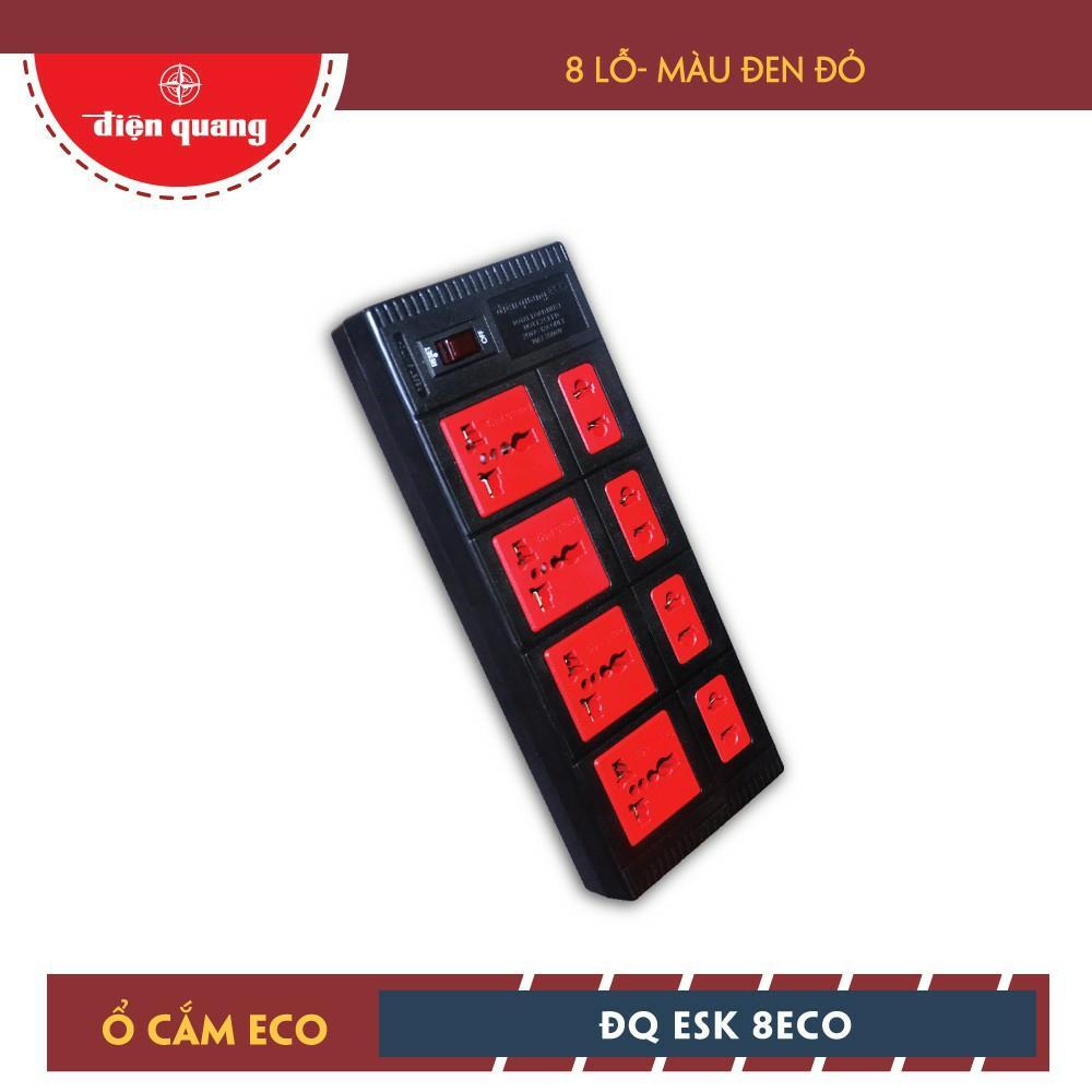 Ổ Cắm Điện Quang ECO ĐQ ESK 8ECO (8 Lỗ)