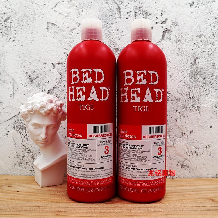 [COMBO 2 LỌ] Cặp dầu gội xả Tigi best head 750ml-Bộ gội xả Tigi Bed Head (dòng màu đỏ cho tóc hư tổn cấp độ 3)
