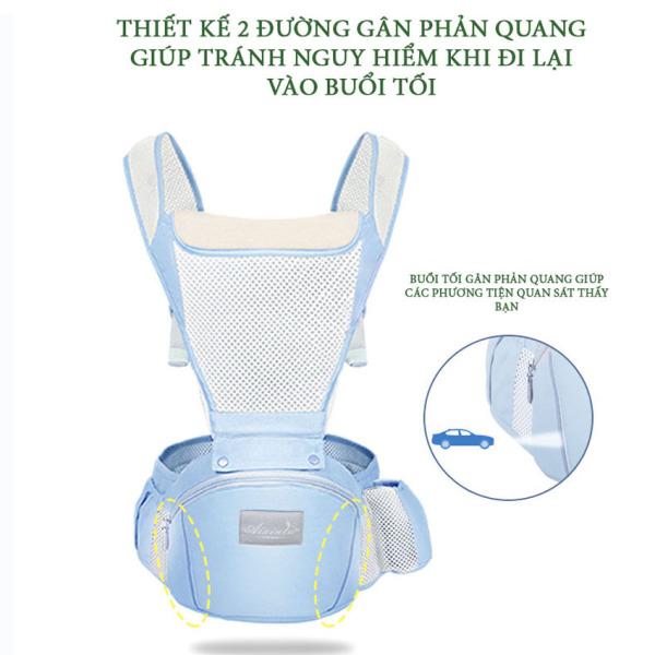 Địu em bé chống gù AIXINTU có ngăn chứa đồ rộng rãi, siêu thoáng khí, cực chắc chắn, giặt không phai màu, địu ngồi, địu 4 tư thế, địu cho bé, địu ngồi cho bé, địu