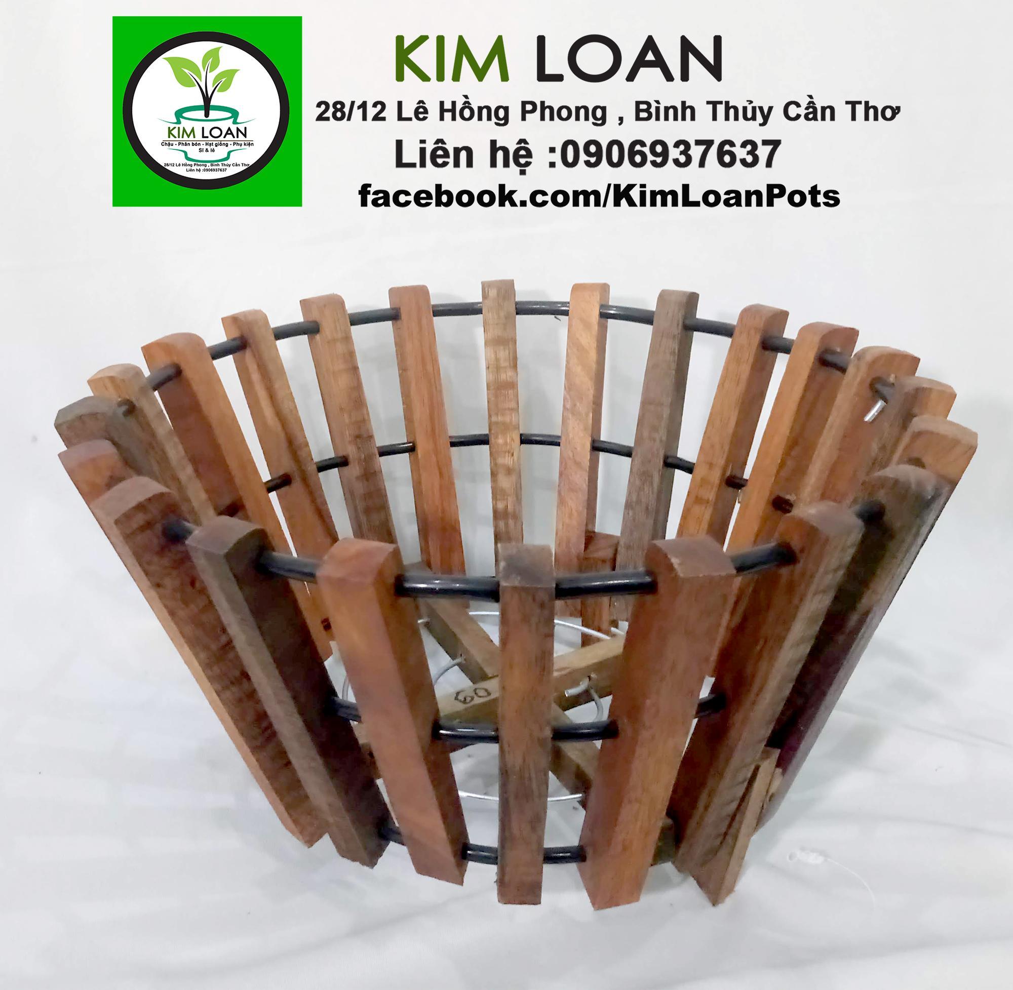 Combo 4 chậu gỗ trồng lan C2 24x14cm