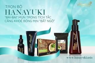 [Hanayuki-Date 2023] Bộ 4 sp Hanayuki giảm mụn chuyên sâu Hananyuki (detox skin mask, sữa rửa mặt y hoc, serum mụn và kem mụn) thumbnail