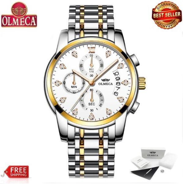 Đồng hồ Olmeca dây thép chạy 6 kim 0827 (fullbox)