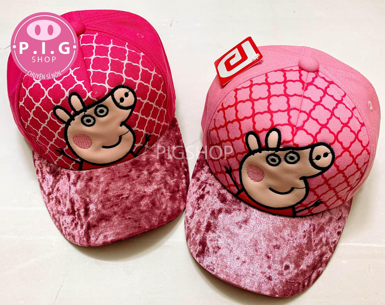 Nón kết peppa pig cho bé gái 2-6 tuổi,mũ nón lưỡi trai peppa pig