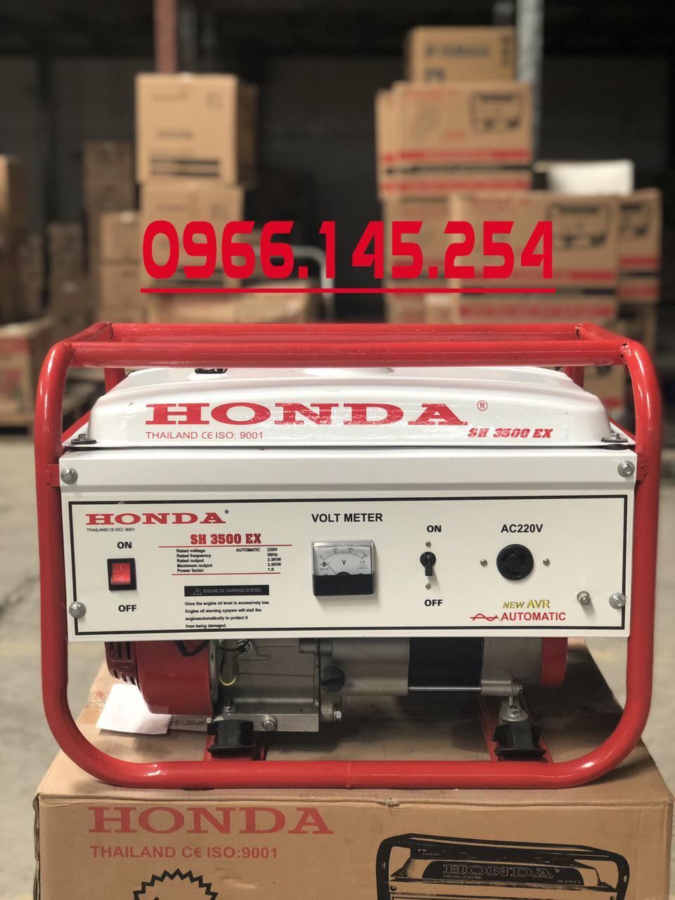 máy phát điện SH 3500 chạy xăng 3,0kw - không đề