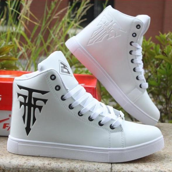 Giày nam cao cổ thời trang giaynam-GY12 trắng giá rẻ