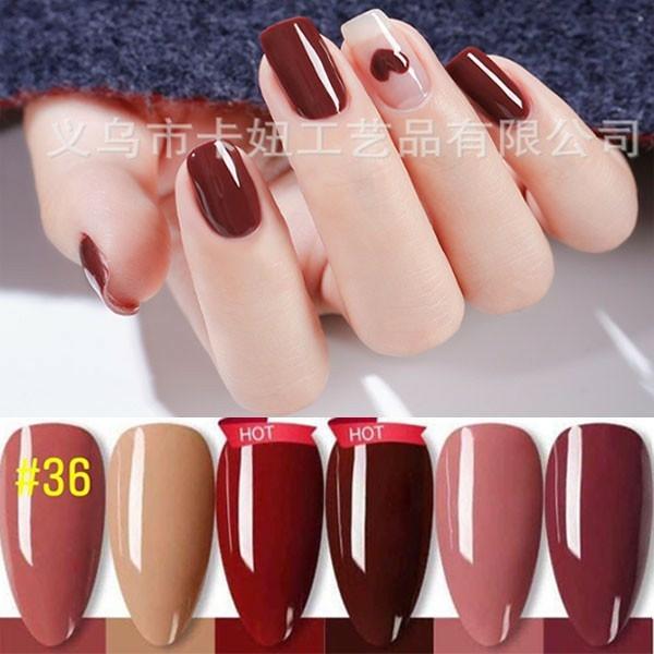 [kaniu 36] Sét sơn gel kaniu gồm 6 chai, 6 màu trang trí móng làm nail giá rẻ