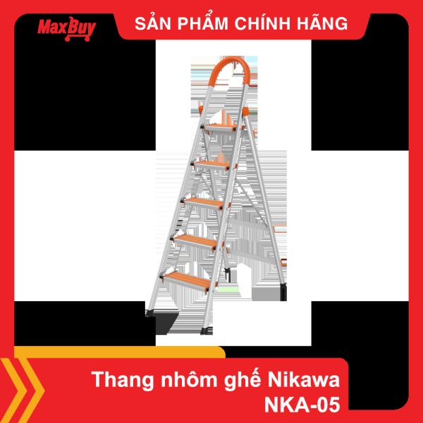 Thang nhôm ghế gia đình chữ A 5 bậc Nikawa NKA-05 gấp gọn