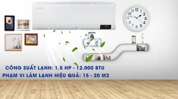 Bảng giá Máy lạnh Samsung Wind-Free 1.5 HP AR13TYGCDWKN/SV - Công nghệ Inverter, Điều hòa 1 chiều