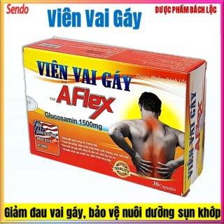 Viên Vai Gáy Aflex Glucosamin 1500mg- Giảm Đau Mỏi Vai Gáy, Ngăn Chặn Thoái Hóa Đốt Sống- Hộp 30 viên thumbnail