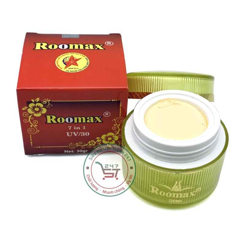 [Lấy mã giảm thêm 30%] Kem Dưỡng trắng hiệu quả Chống nhăn tái tạo da nhanh giúp se khít lỗ chân lông 7in1 Roomax 30g (Đỏ) giá rẻ