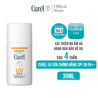 [Voucher 50K cho đơn hàng 699K] Sữa Chống Nắng Curel UV Protection Face Milk SPF 30 PA++ 30ml thumbnail