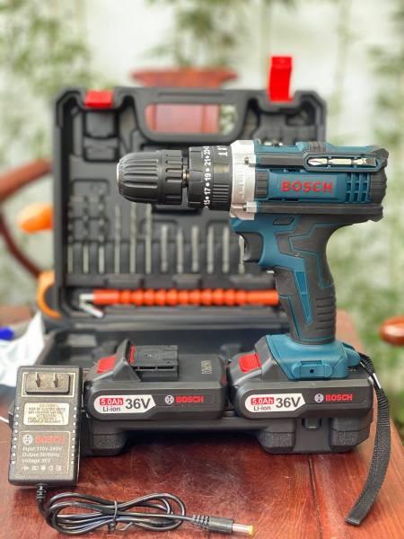 Máy Khoan Pin Bosch 36V, Máy Khoan Cầm Tay Bắt Vít Kèm Bộ Phụ Kiện 24 Món