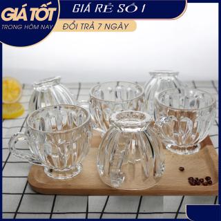 Bộ 6 Ly Thủy Tinh Bầu Lùn Uống Trà, CAFE, NƯỚC HOA QUẢ - Bộ 6 ly thủy tinh uống trà cao cấp , Bộ 6 cốc thủy tinh Lirmartur P-125 - Bộ 6 Ly Thủy Tinh Bầu Lùn Uống Trà thumbnail