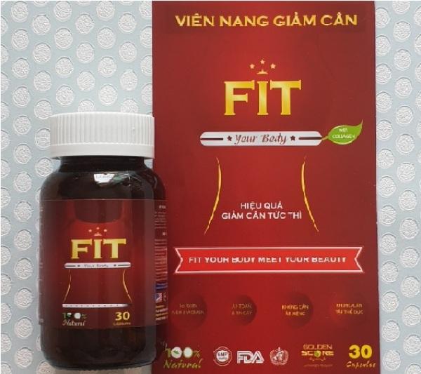 Viên Uống Giảm Cân Fit Slim Capsules Usa Health 30 Viên nhập khẩu