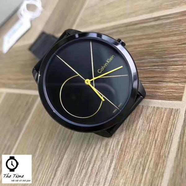 Đồng hồ đôi Calvin Klein Minimal Blue Dial  K3M2112N & K3M2212N ; Black K3M214X1 & K3M224X1 . 40mm & 35mm. 3atm bán chạy