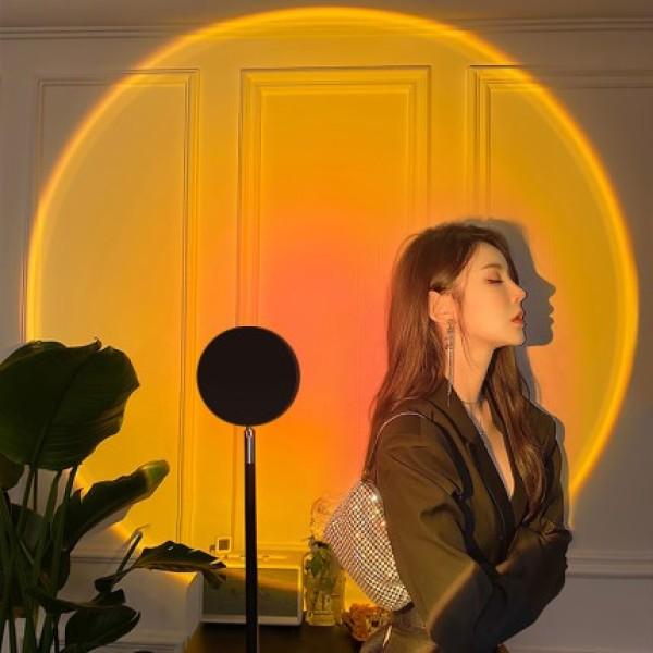 [HCM]Đèn chụp ảnh LED hiện đại Đèn sunset lamp đèn hoàng hôn đèn mặt trời đèn cầu vồng tiktok trend 2021