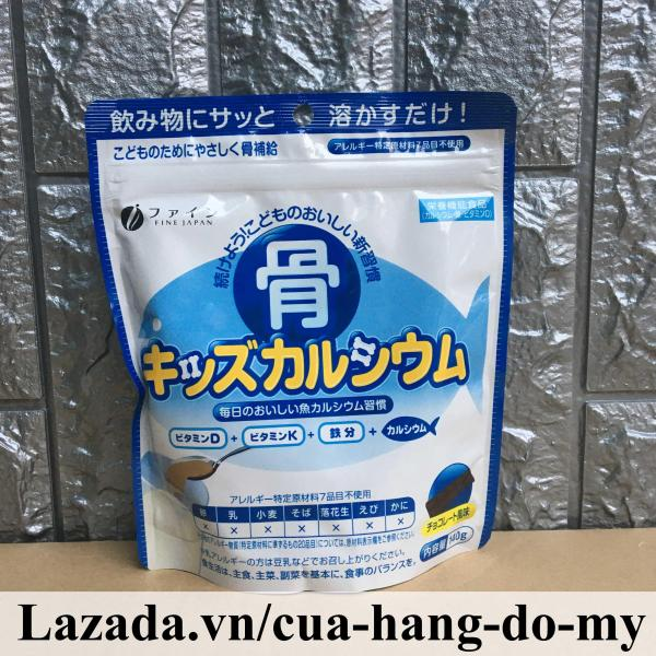 Bột Xương Cá Tuyết bổ sung Canxi Chiết Xuất Từ Cá Tuyết Nhật Bản Fine túi 140g cao cấp