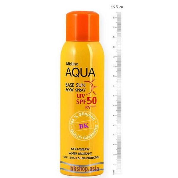 Xịt chống nắng Aqua Base Sun Body Spray Mistine UV Thái Lan 150ml tốt nhất