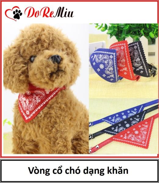 Doremiu - Vòng cổ chó mèo có khăn yếm 3 màu 2 size thời trang cho thú cưng