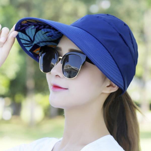 Jiaok MALL Mũ Gấp Đi Bộ Đường Dài Ngoài Trời Che Nắng Ngoài Trời Vành Rộng Thời Trang Chống Tia UV Cho Nữ