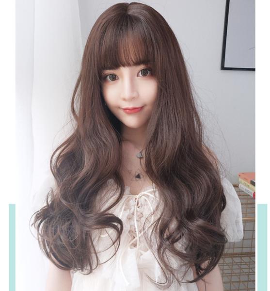 [TẶNG KÈM LƯỚI] Tóc giả nữ sợi tơ trùm nguyên đầu Hàn Quốc - TG982 ( MÀU NÂU TỐI ) giá rẻ