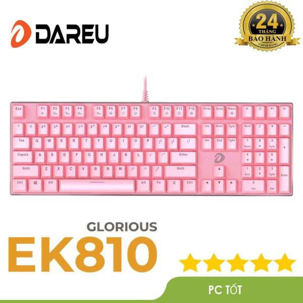 Bảng giá Bàn phím cơ Gaming DAREU EK810 - Queen (MULTI-LED Blue/ Brown/ Red D switch) - EK810 Pink Phong Vũ