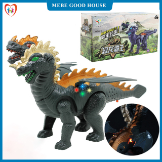 Đồ chơi khủng long 2 đầu có cánh chạy bằng pin, quà tặng cho bé thú vị thumbnail