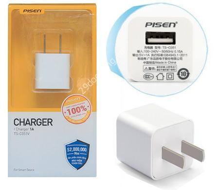 Pisen I Charger 1A  - Củ sạc PISEN có độ phổ biến như củ sạc của Apple theo máy